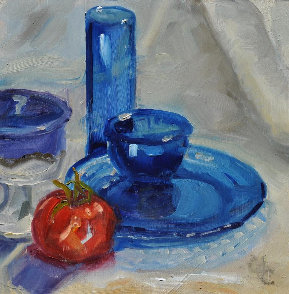"""The Blue Glass Painting"" original fine art by Catherine Crookston"