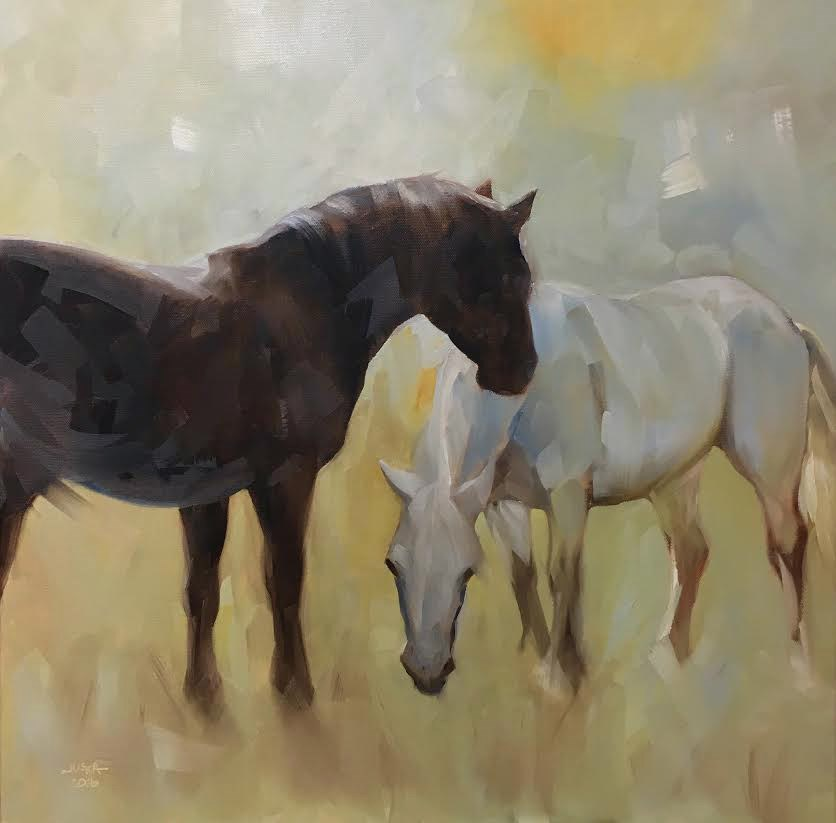 """When Days Were Golden"" original fine art by Elaine Juska Joseph"