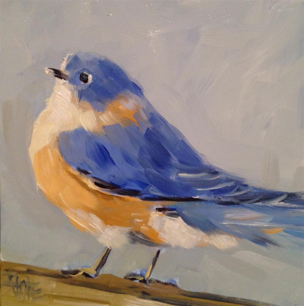 """#27 Fatty Bird"" original fine art by Patty Voje"