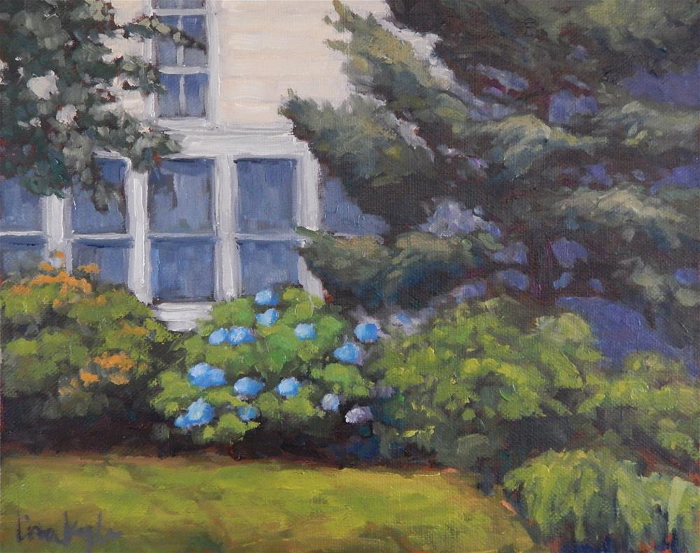 """House and Garden"" original fine art by Lisa Kyle"