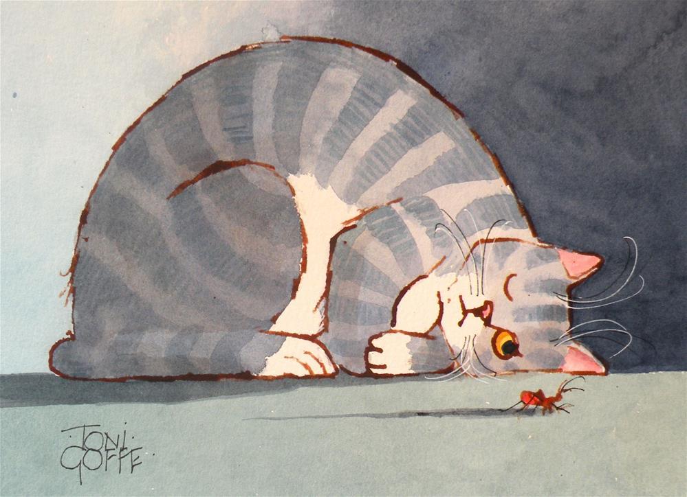 """""""I've Got My Eye  On You"""" original fine art by Toni Goffe"""