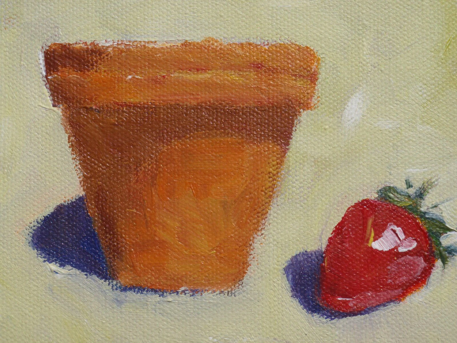 """""""clay pot"""" original fine art by Shelley Garries"""