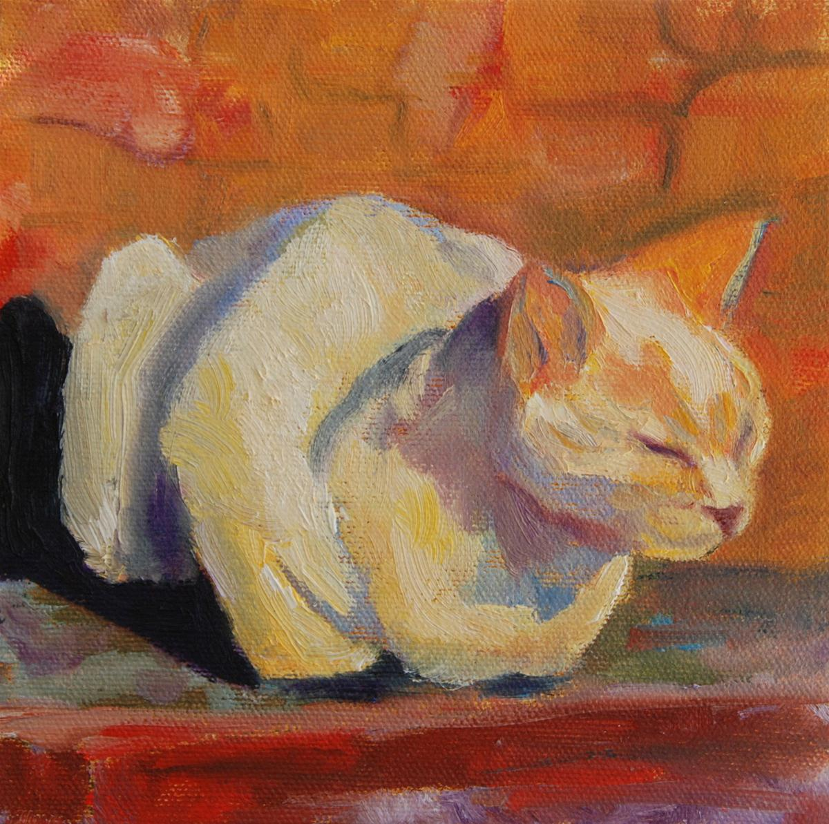 """Petite Chat 3"" original fine art by Ceci Lam"