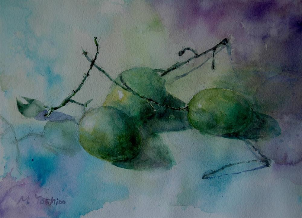 """From Al Ain vegetable souq"" original fine art by Midori Yoshino"