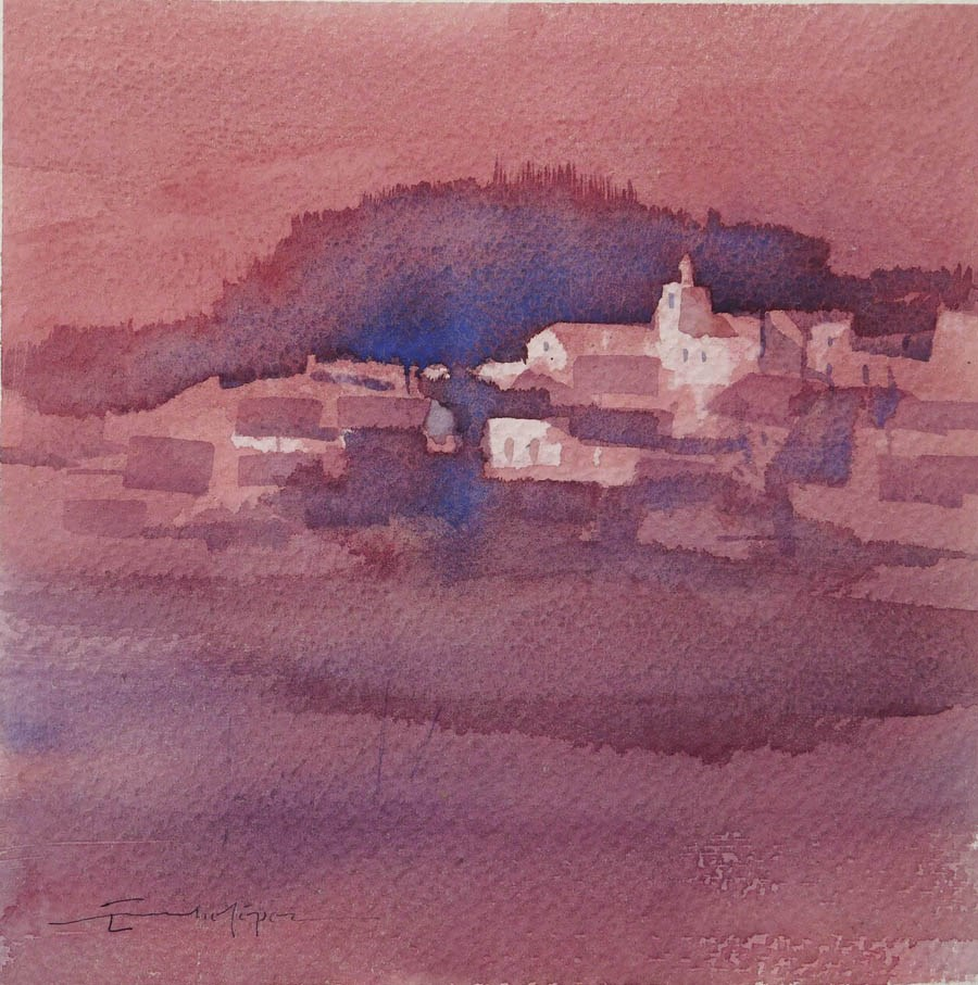"""paisaje 264"" original fine art by Emilio López"