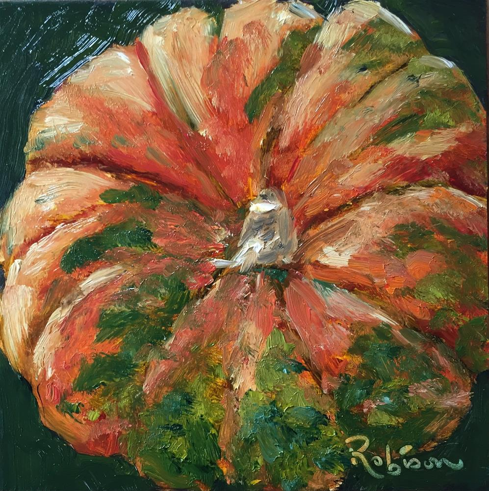 """Color in the pumpkin patch"" original fine art by Renee Robison"