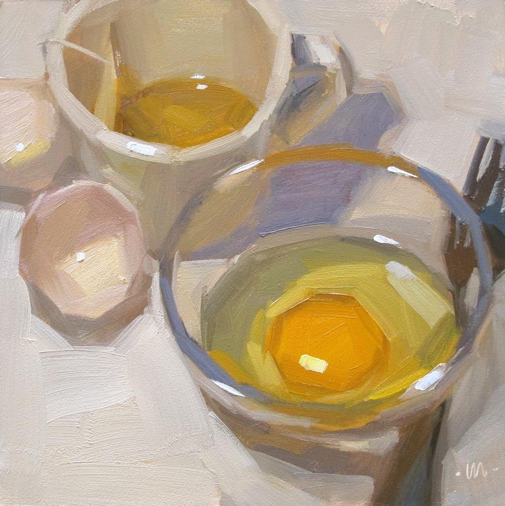"""""""Eggsistentialism"""" original fine art by Carol Marine"""