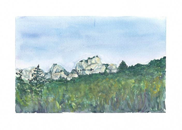 """Rock Formation in Provence"" original fine art by Laura Denning"