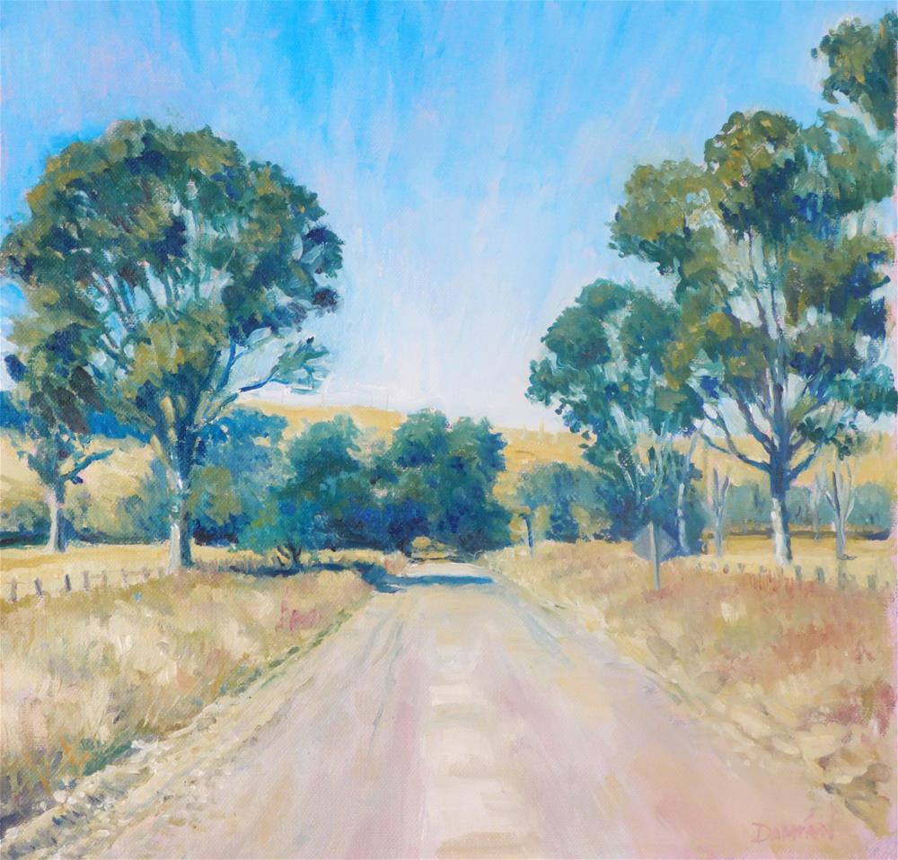 """The Road Home"" original fine art by Damian Gerard Bland"