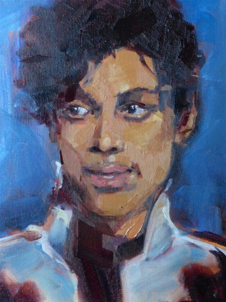 """Purple Rain"" original fine art by Jeri Ireland"