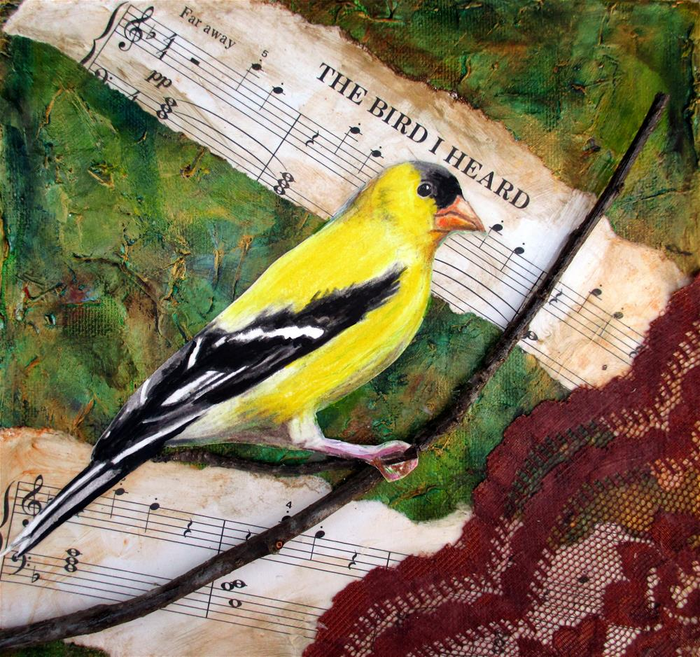 """The Bird I Heard"" original fine art by Lisa Wiertel"