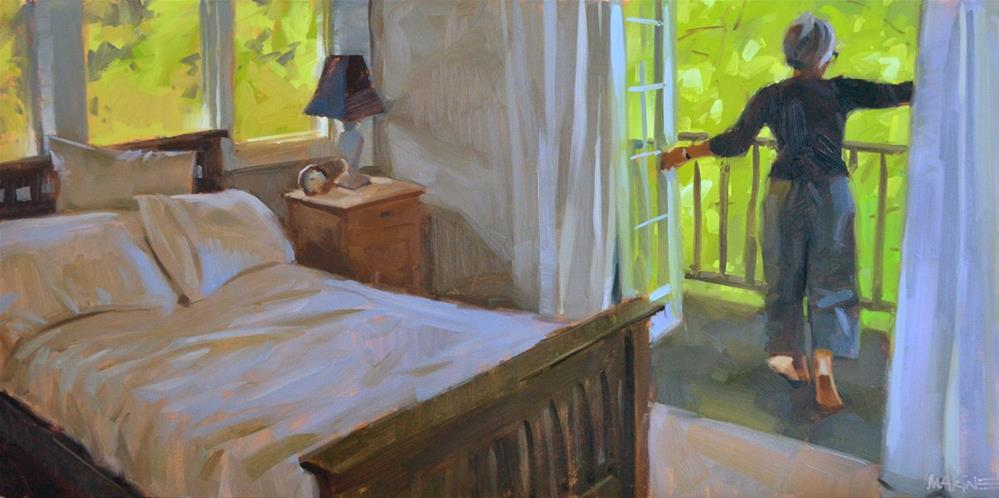 """In the Trees"" original fine art by Carol Marine"