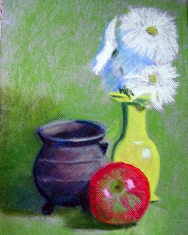 """Still Life with Apple"" original fine art by Elaine Shortall"