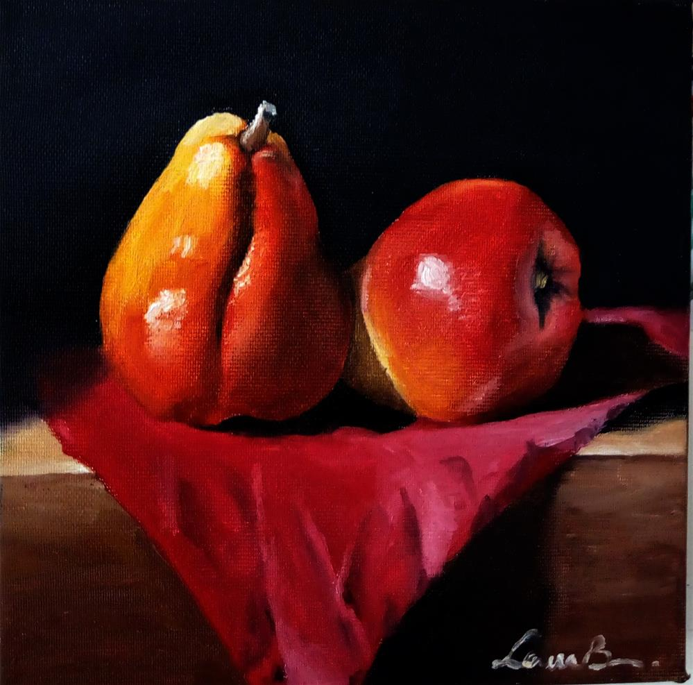 """Red Pears"" original fine art by Laura B."