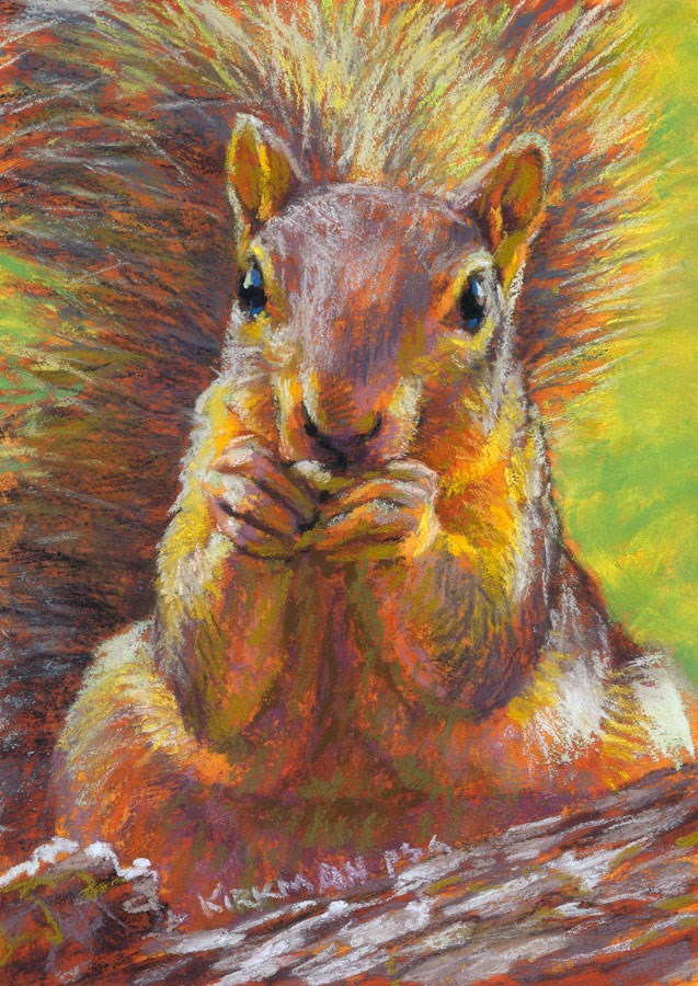 """Nutz"" original fine art by Rita Kirkman"