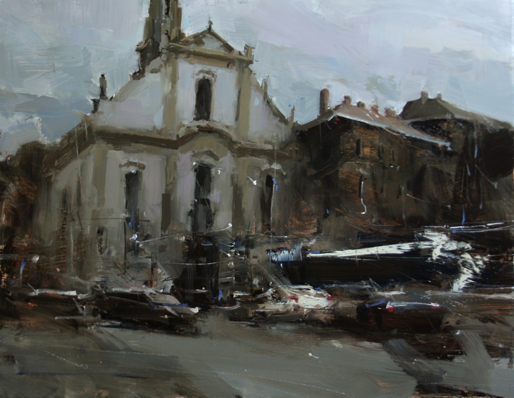 """The Gray Illusion"" original fine art by Tibor Nagy"