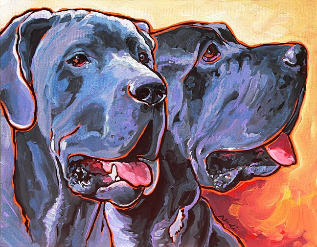 """Howy and Iloy"" original fine art by Nadi Spencer"
