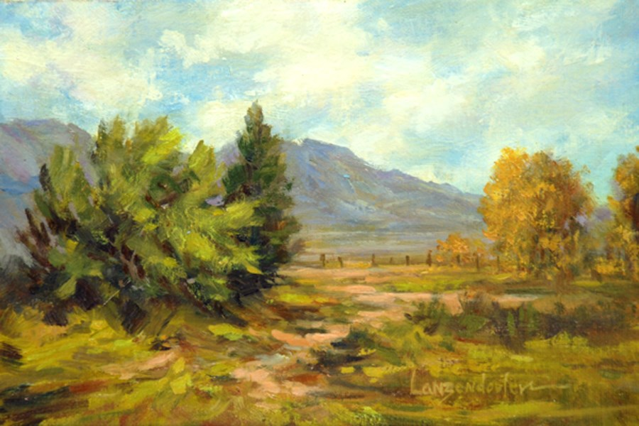 """MOUNTAIN VALLEY"" original fine art by Dj Lanzendorfer"