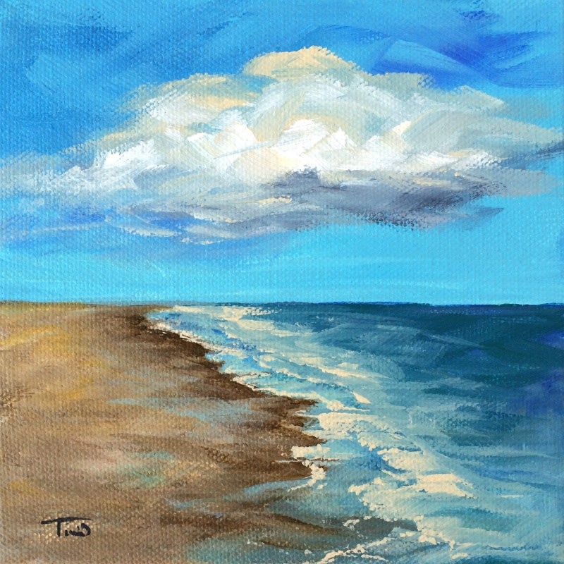 """Cloudy Day"" original fine art by Torrie Smiley"
