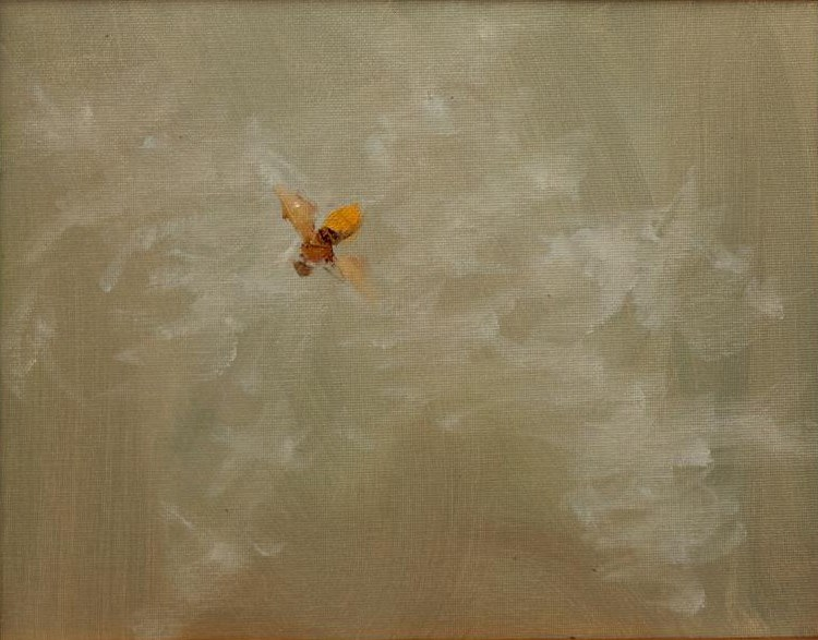 """Bee in the Fog en plein air"" original fine art by Daniel Fishback"