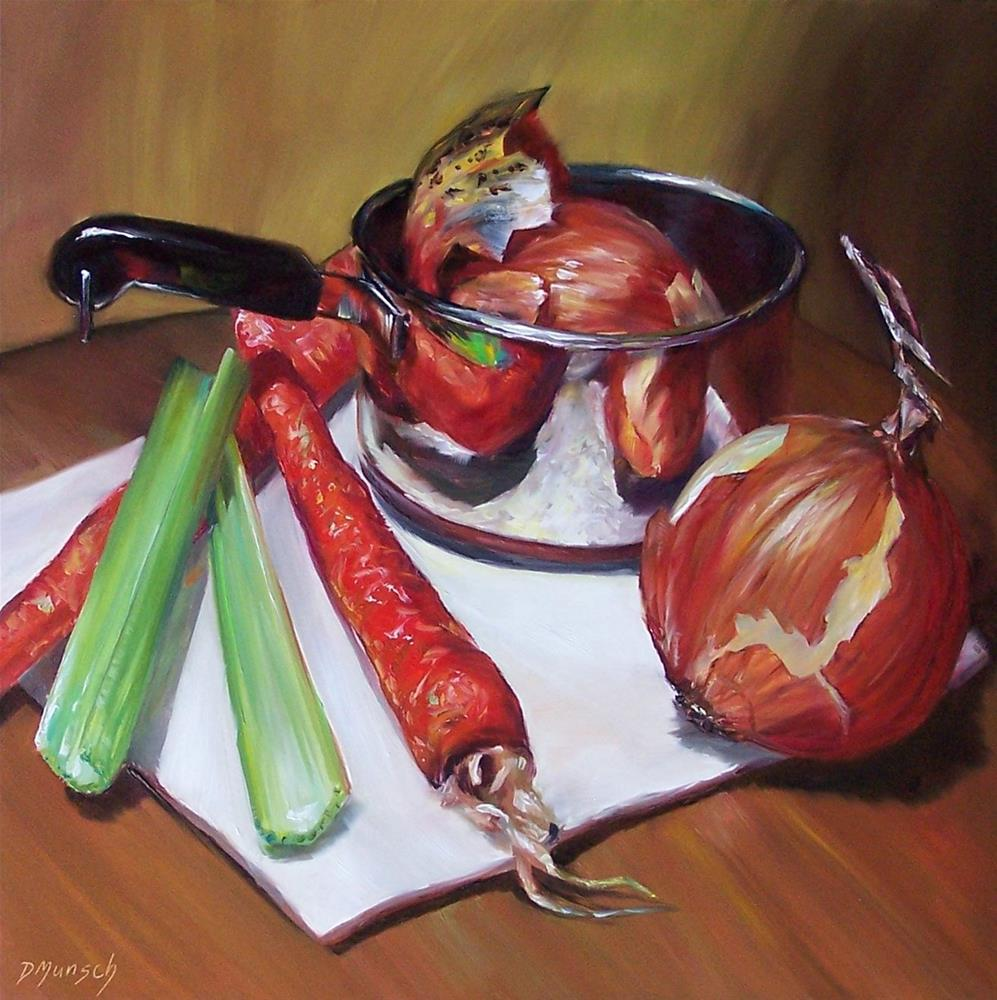 """Celery, Carrots and Onions"" original fine art by Donna Munsch"