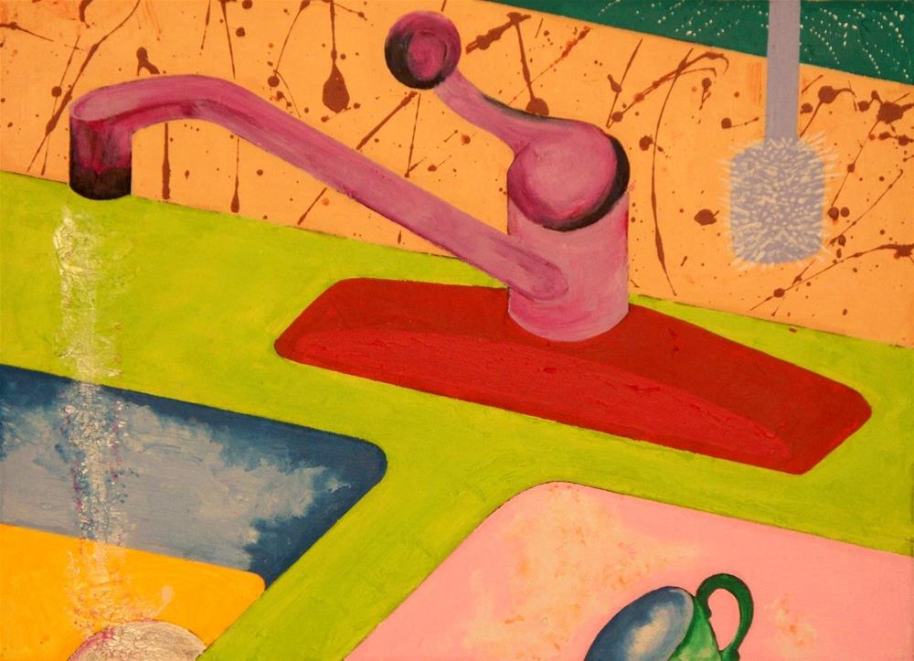 """Kitchen Sink"" original fine art by Lisa Fulton"
