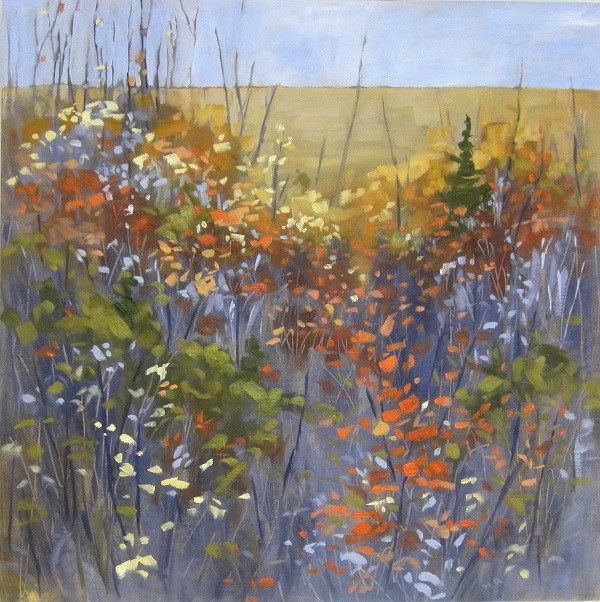 """Hillside Ascent"" original fine art by Nicki Ault"