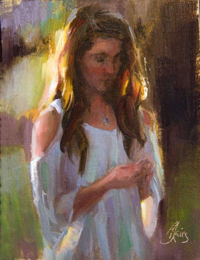 """""""Stay Gold"""" original fine art by Pamela Blaies"""