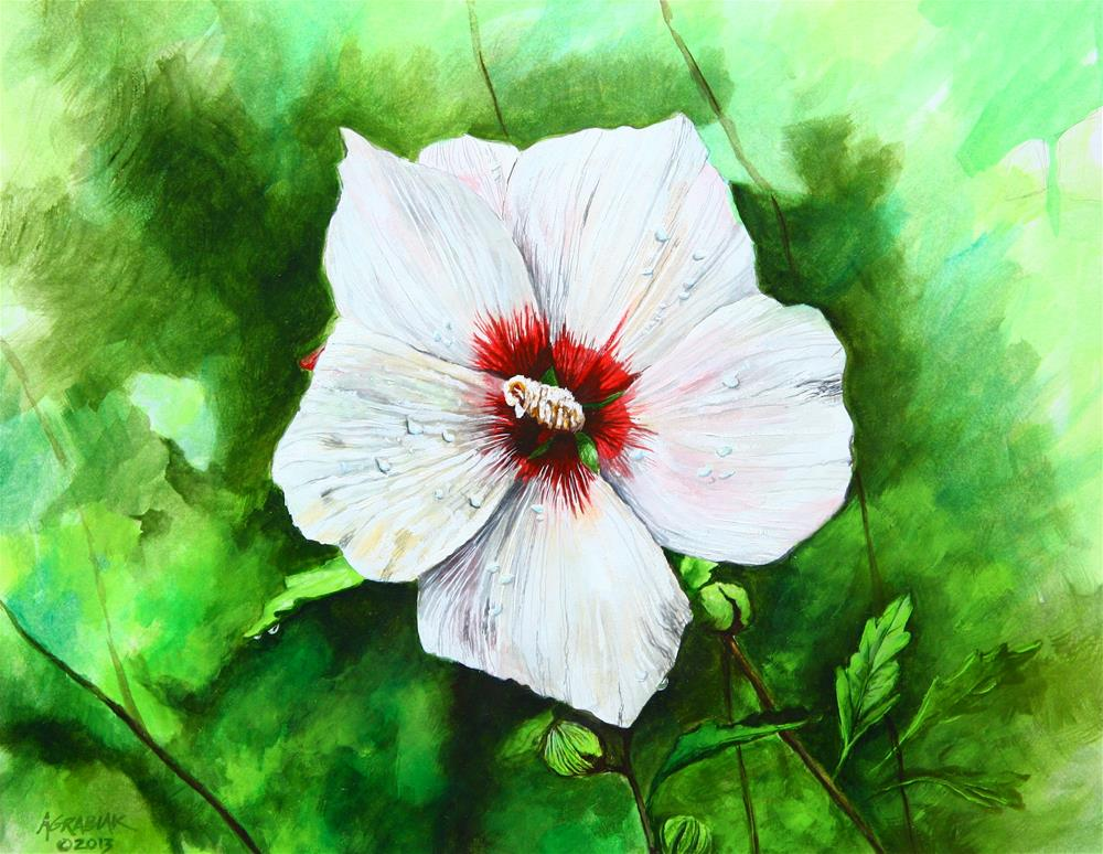 """'Helene' Rose of Sharon"" original fine art by Aaron Grabiak"