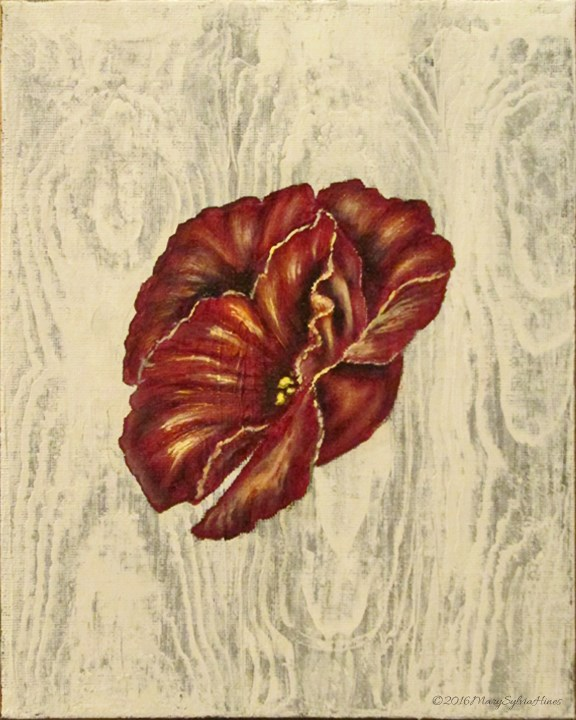 """Rose-Wood 01"" original fine art by Mary Sylvia Hines"
