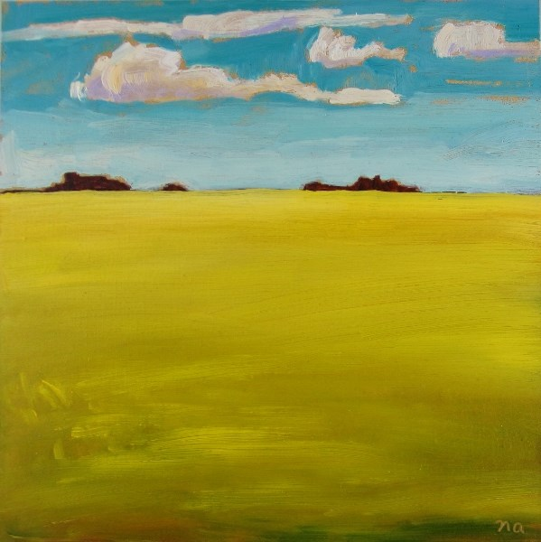 """Driving By Canola"" original fine art by Nicki Ault"