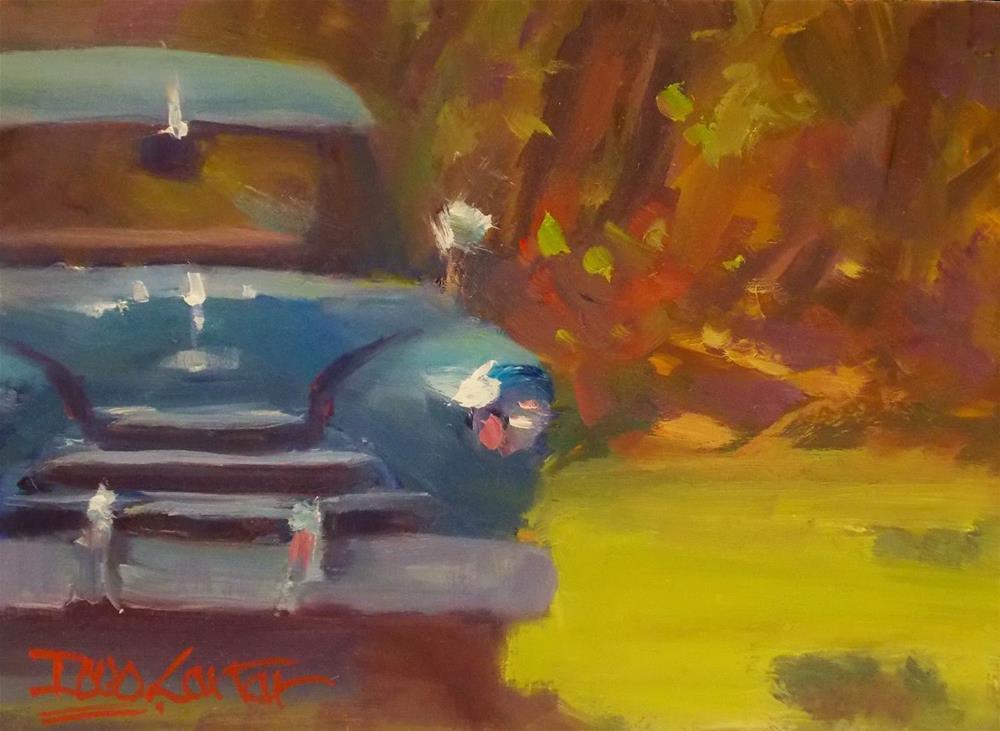 """""""BIG BLUE"""" original fine art by Doug Carter"""
