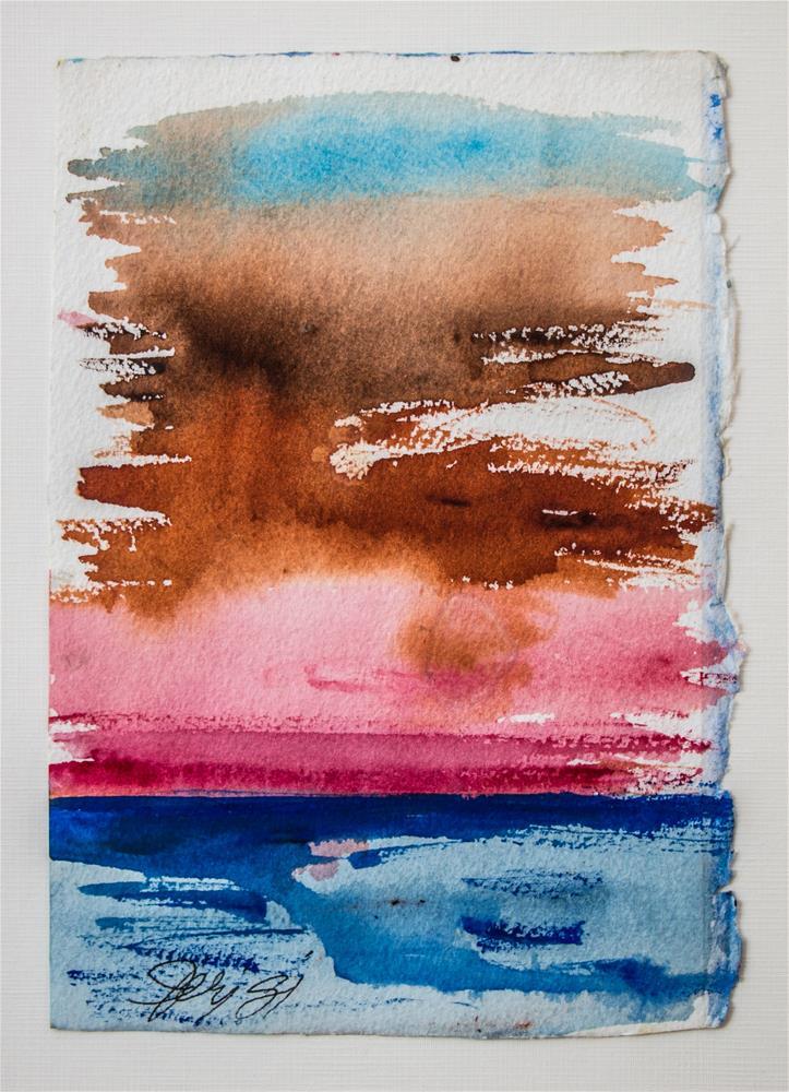 """Into Every Life a Little Rain Must Fall..."" original fine art by Jeri Giddens"