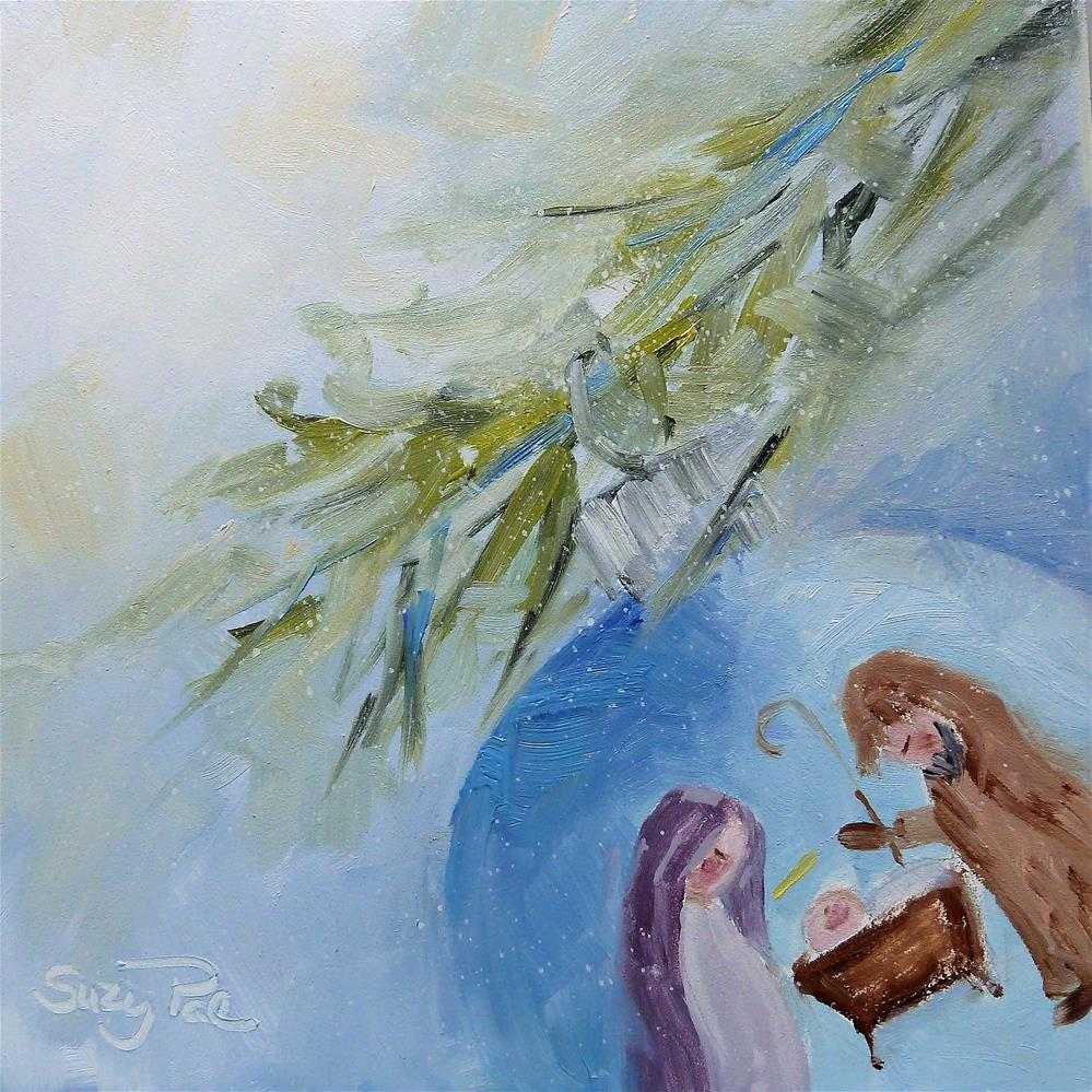 """Nativity"" original fine art by Suzy 'Pal' Powell"