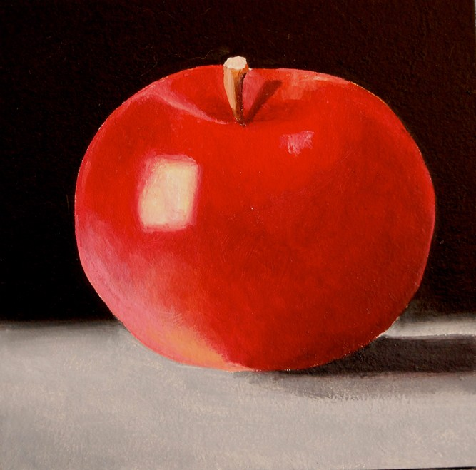 """THE APPLE/ THE MOVIE"" original fine art by Gerald Schwartz"