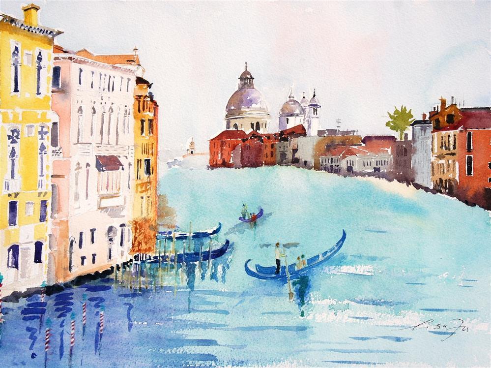 """Venice"" original fine art by Lisa Fu"