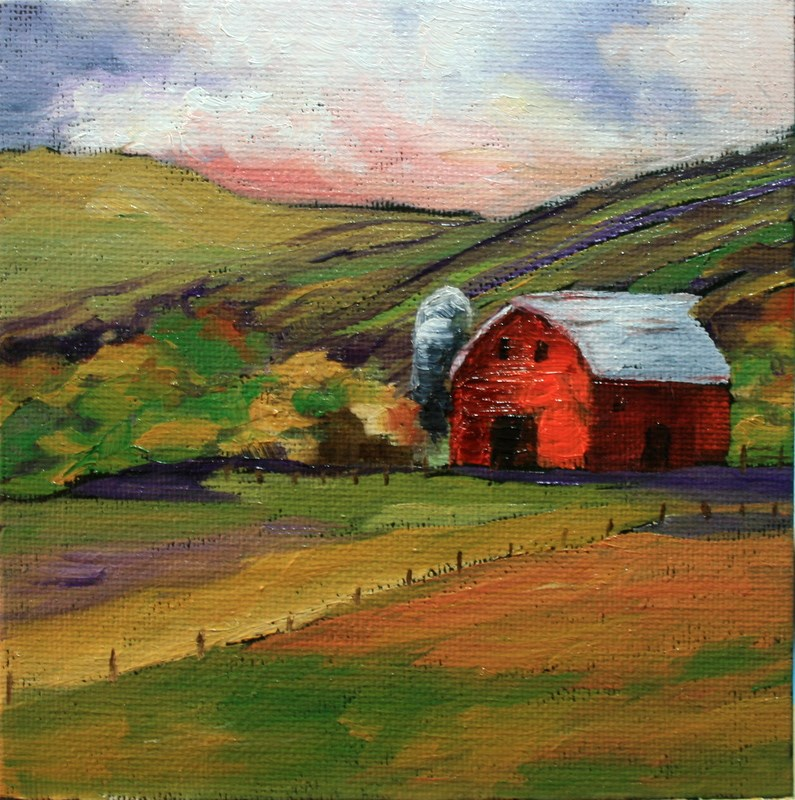 """Hood River Barn"" original fine art by Jean Nelson"