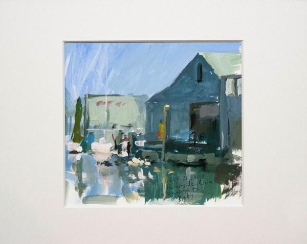 """Harborside Marina"" original fine art by Randall Cogburn"
