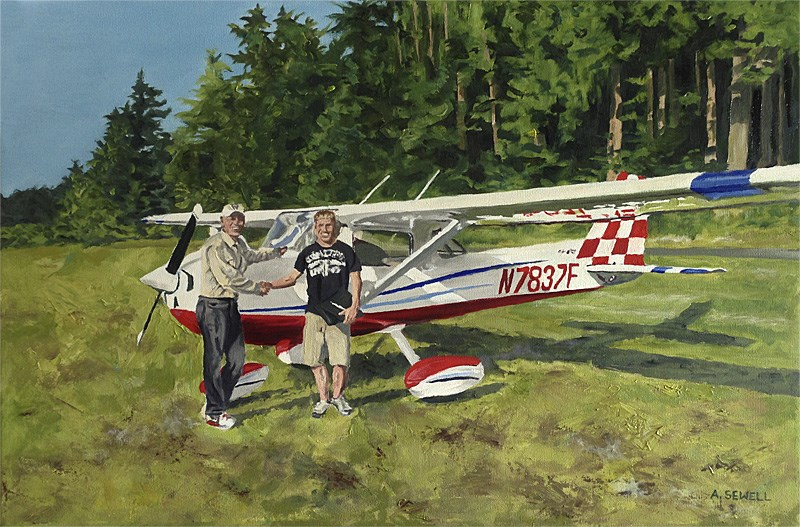 """Congratulations Pilot!"" original fine art by Andy Sewell"