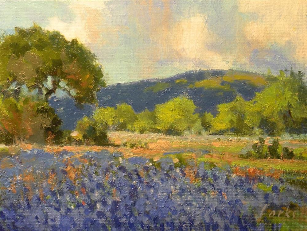"""Seasonal Blues"" original fine art by David Forks"