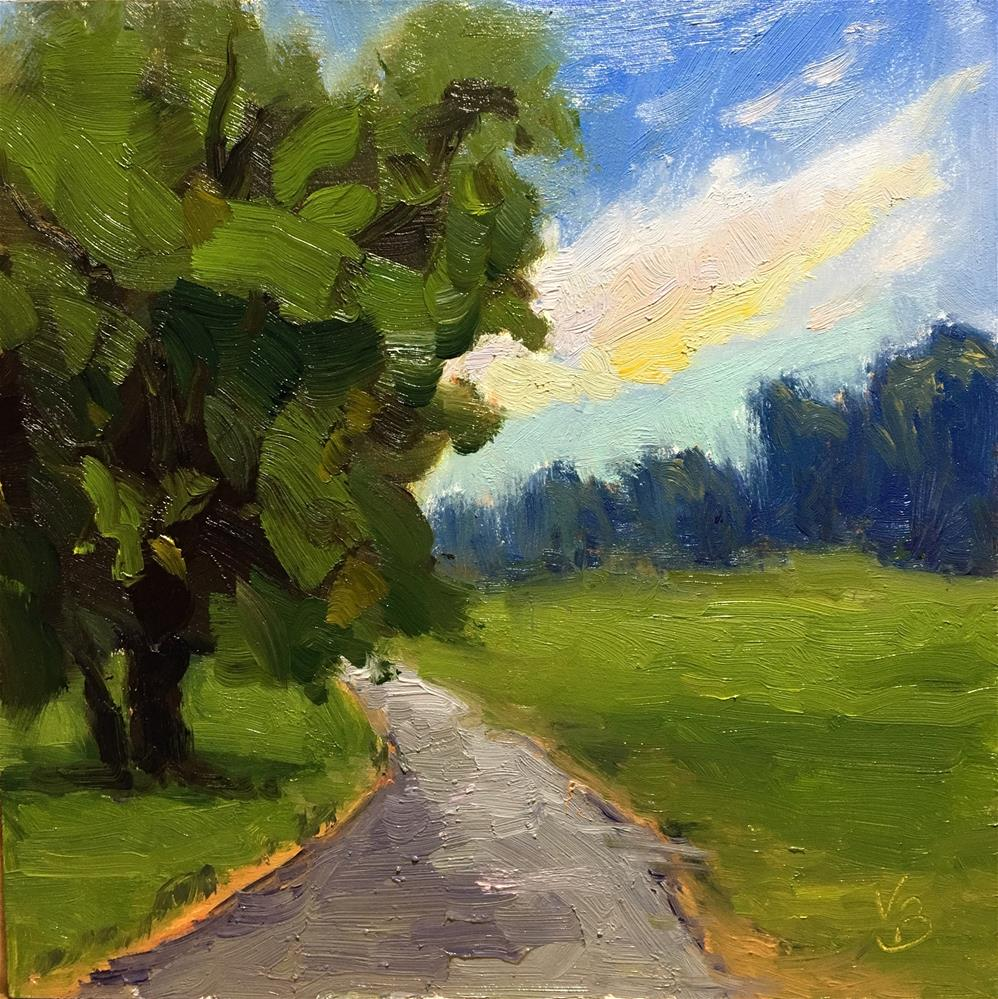"""On the Path"" original fine art by Victoria  Biedron"