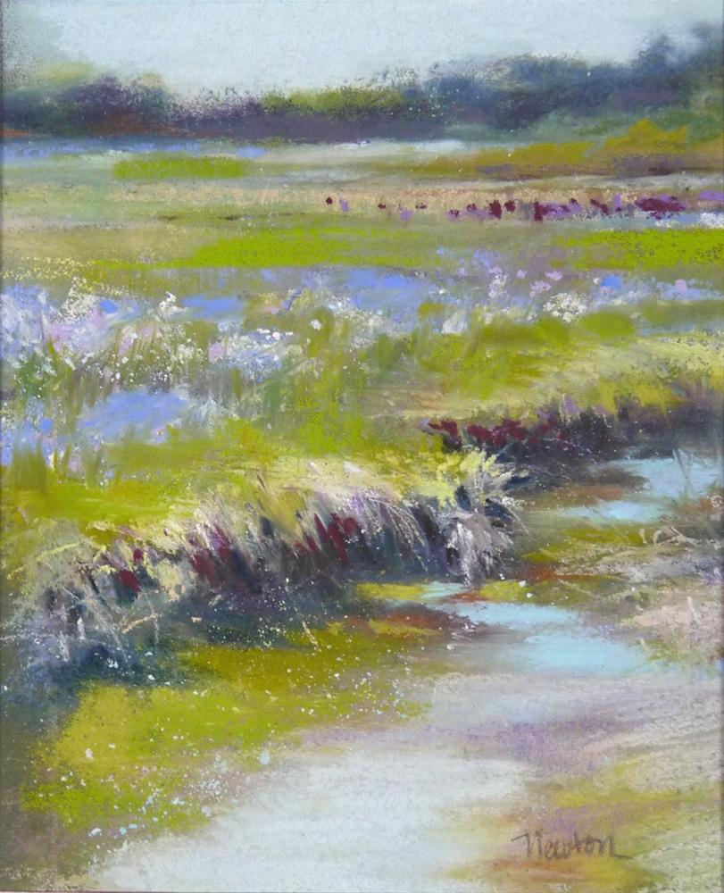 """Study for a larger work - Rivulet"" original fine art by Barbara Benedetti Newton"