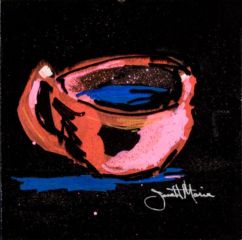 """Cup With Bling"" original fine art by - JanettMarie"