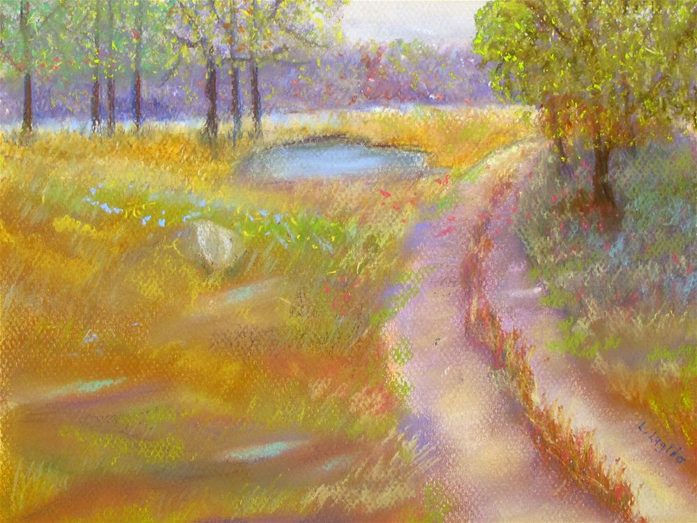 """Way to the Pond"" original fine art by Loretta Luglio"