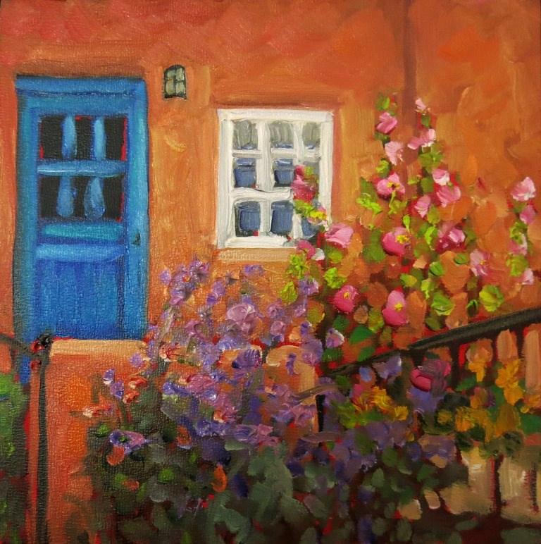 """""""#145  THE BLUE DOOR"""" original fine art by Dee Sanchez"""