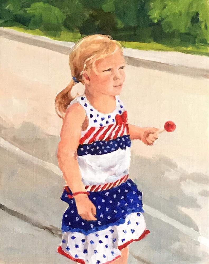 """Little Firecracker"" original fine art by Alice O'Leary"