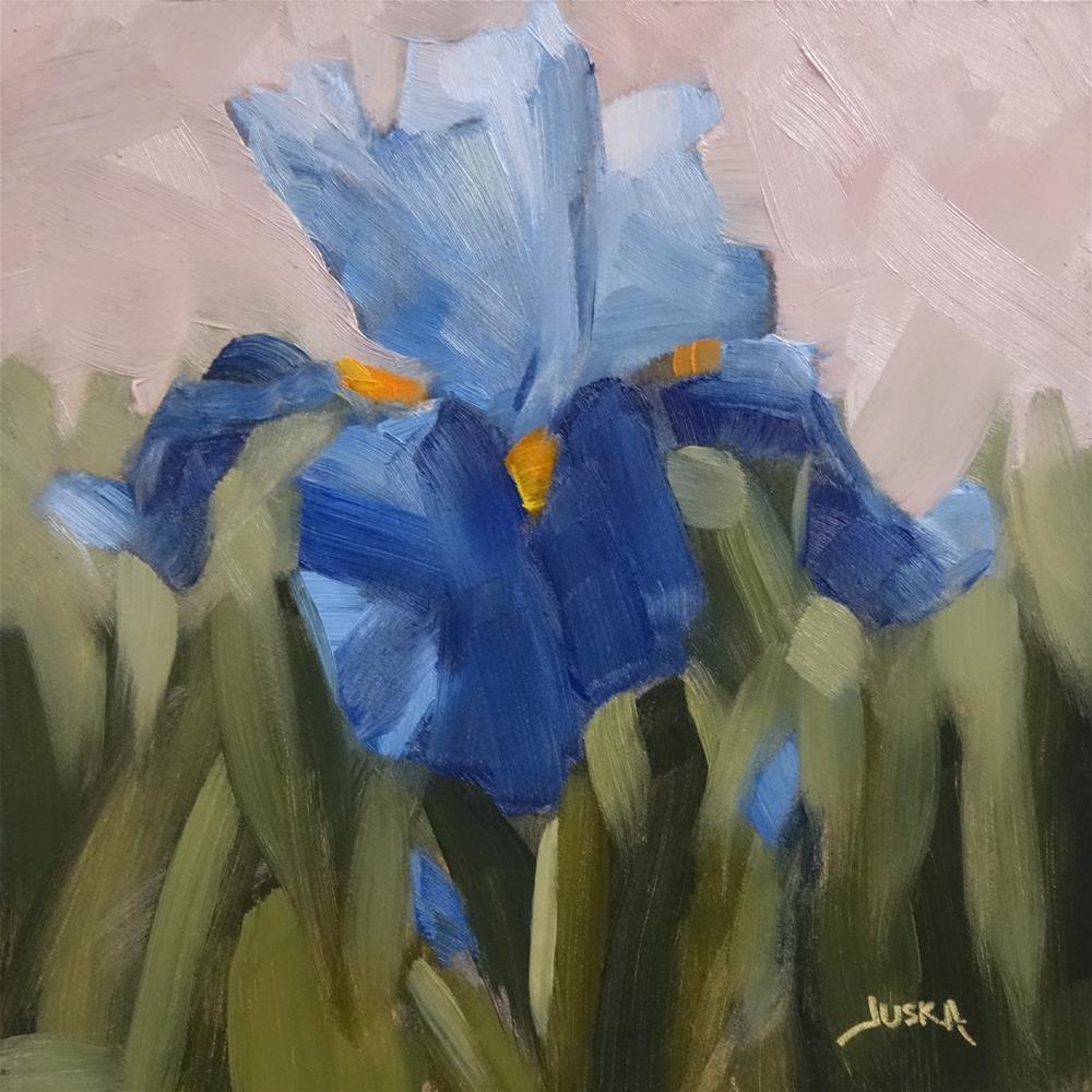 """""""Iris - Blue Tones"""" original fine art by Elaine Juska Joseph"""