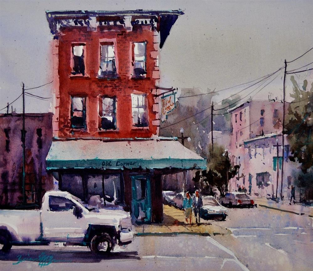 """""""Old Corner"""" original fine art by Brienne M Brown"""