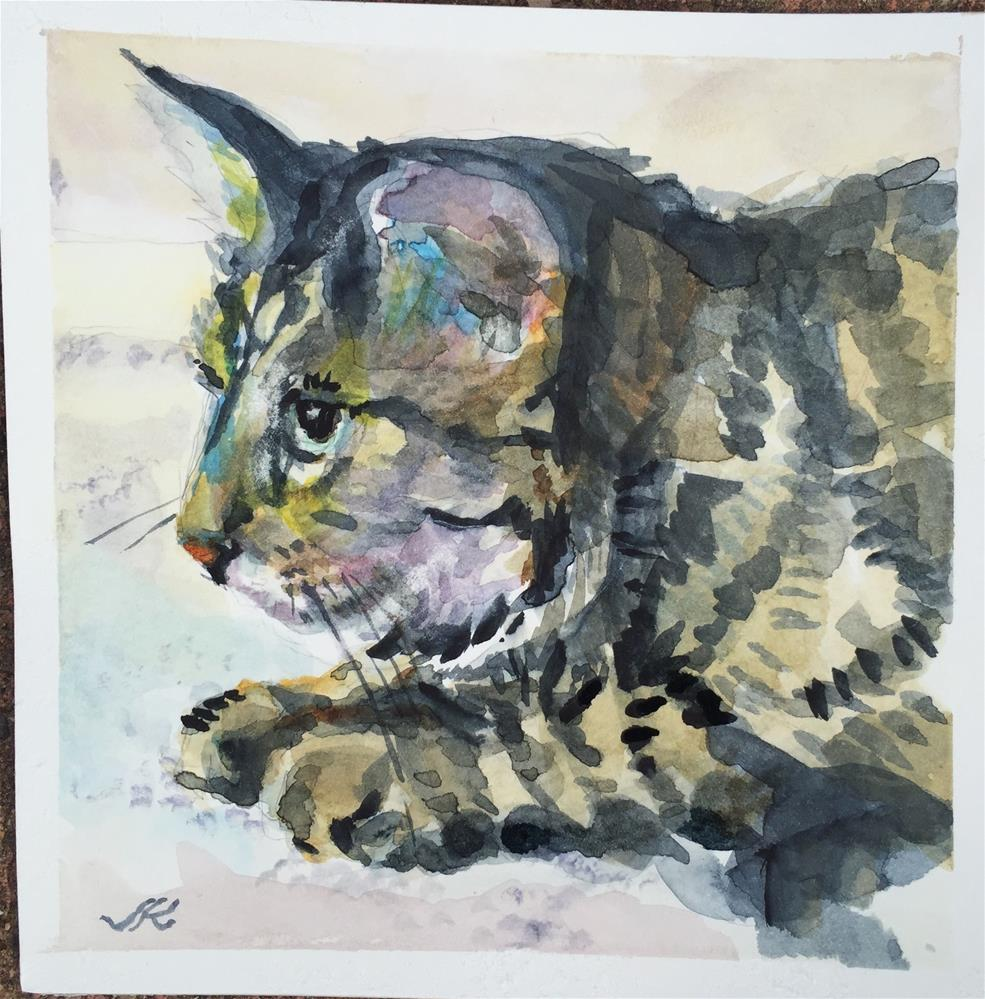 """Omaha Timing the Pounce"" original fine art by Jean Krueger"
