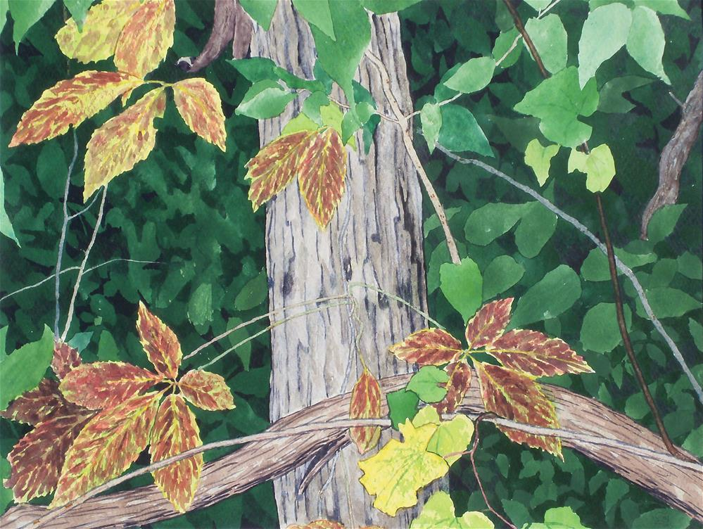 """Creeper in the Woods"" original fine art by Greg Arens"